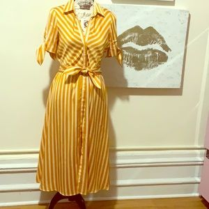 MNG suit dress striped size S